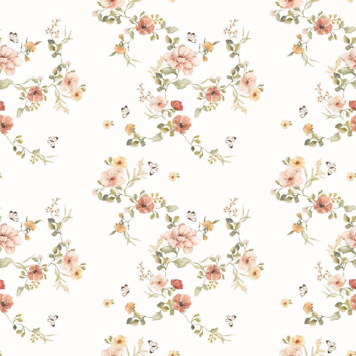 Floral Vintage Wallpaper Dekornik Com Wallstickers And