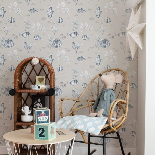Beige-Fish-Wallpaper-dekornik