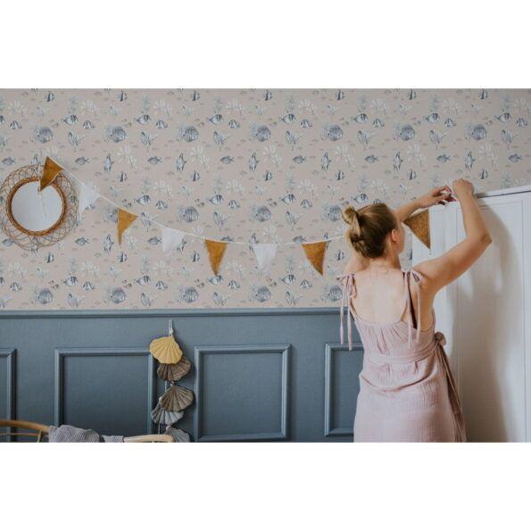 DEKO.TAP.131_fish_blue_beige_dekorhik_wallpaper2