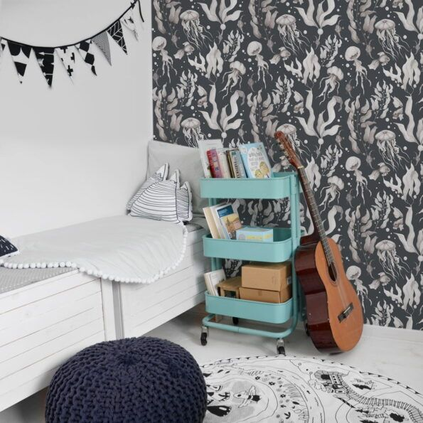 Magic-Of-The-Ocean-Navy-Blue-Small-Wallpaper-dekornik