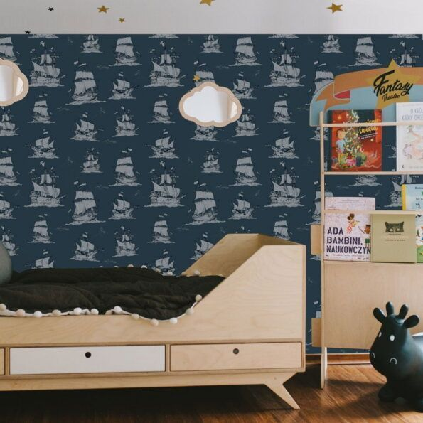 ships_navy_blue_wallpaper_dekornik