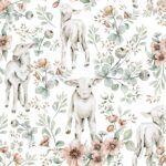 DEKO.TAP.177-(little lambs)-100×280