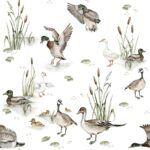 DEKO.TAP.179-(ducks_lake_wallpaper)-100×280