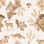 DEKO_TAP_197_autumn_forest_with_animals_100x280_1122009919707